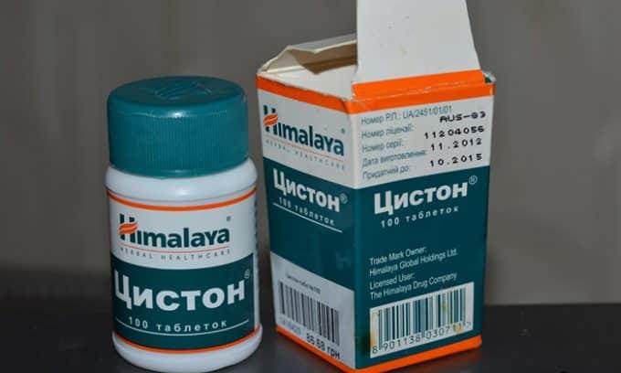 Цистон - комплекс экстрактов разных растений, имеет мочегонное, противовоспалительное и противобактериальное действие, усиливает воздействие антибиотиков